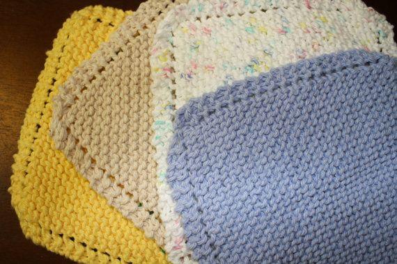 4 Eyelet Edged Dish / Wash Clothes by rachelkappler