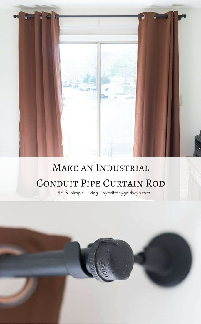 make an industrial conduit pipe curtain rod