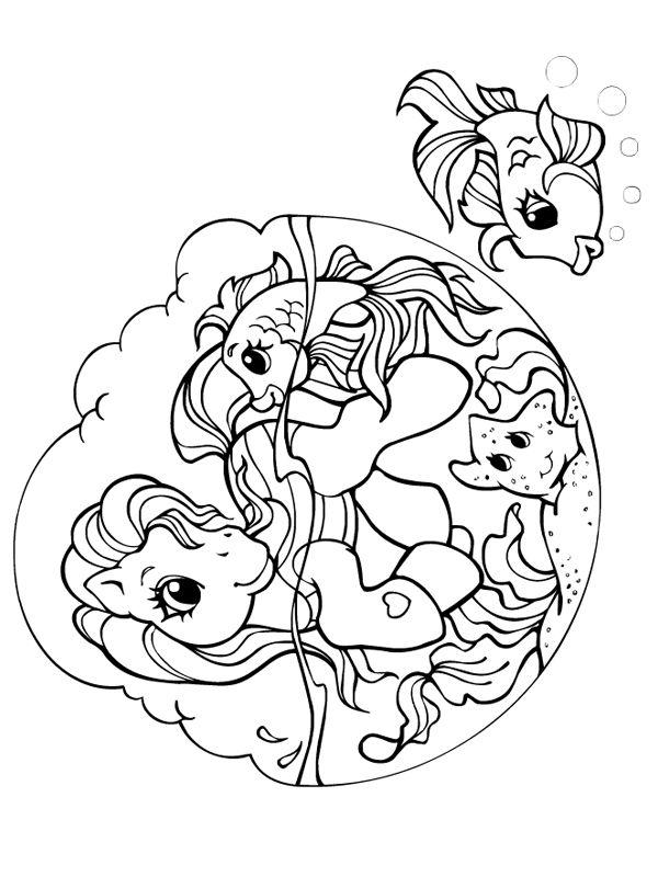 Petit poney et ses amis aquatiques
