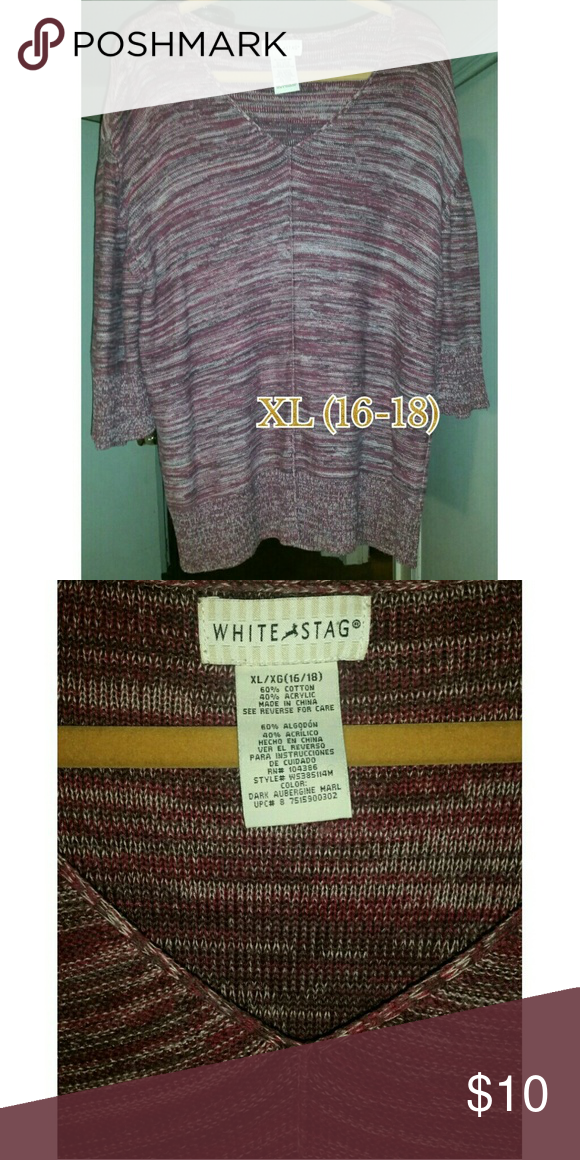 White stag sweater size xl (16-18) White stag 3 4 sleeve 2a11f7218