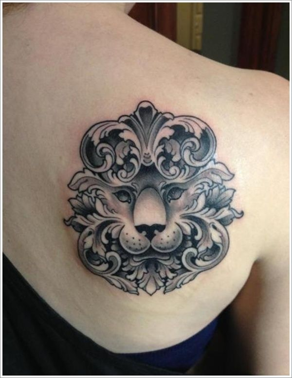 lioness tattoos for women | tribal lion tattoo on back for ...