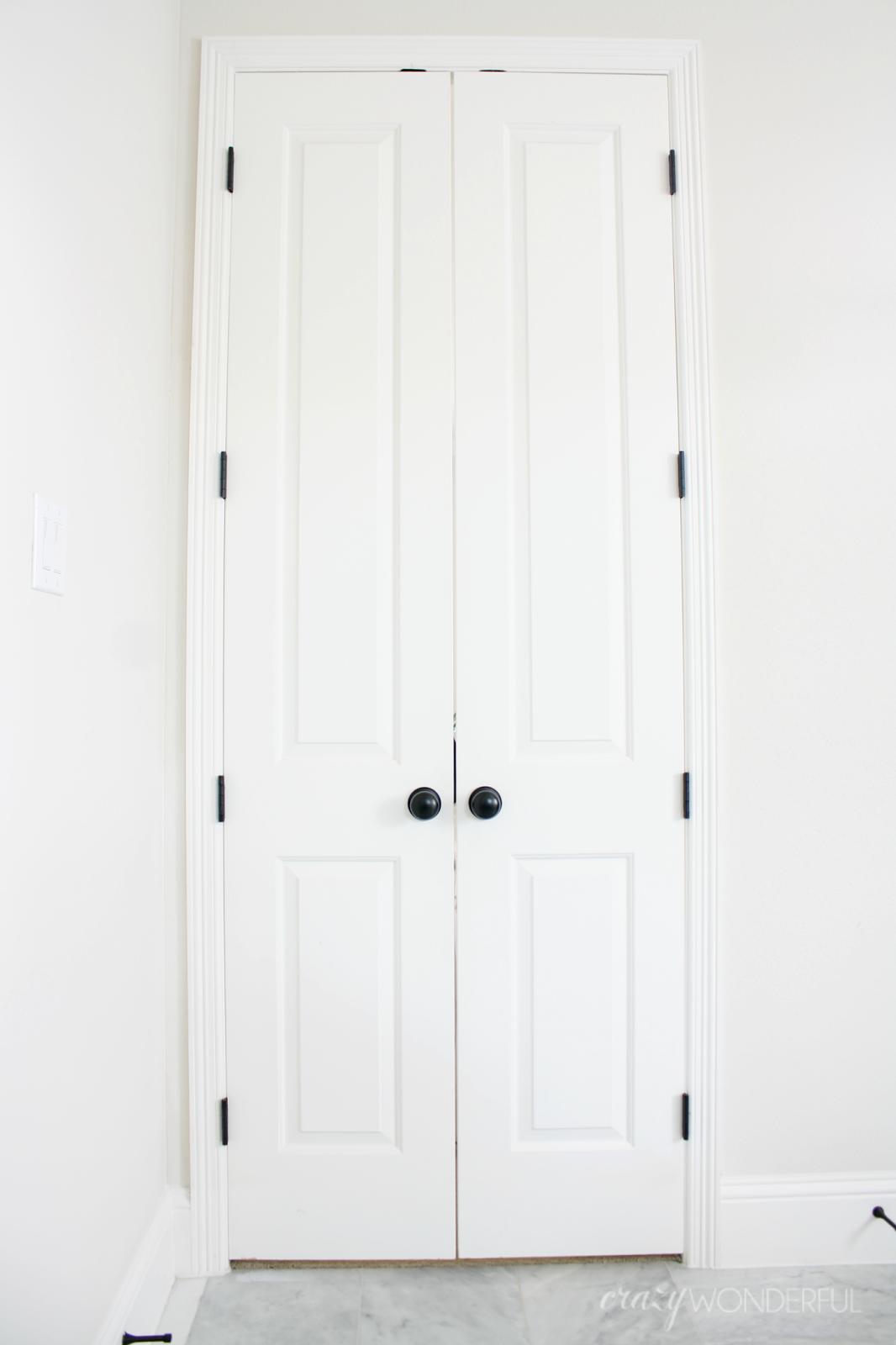 In My Last Post I Talked About How I Wanted To Replace Our Painted Door Hinges With Oil Rubbed Bronze Black Ones 90 Black Door Hinges Black Doors Door Hinges