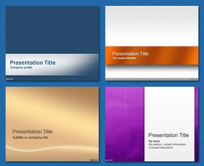 Free #PowerPoint #Templates - Simple   Powerpoints   Pinterest   Plantas