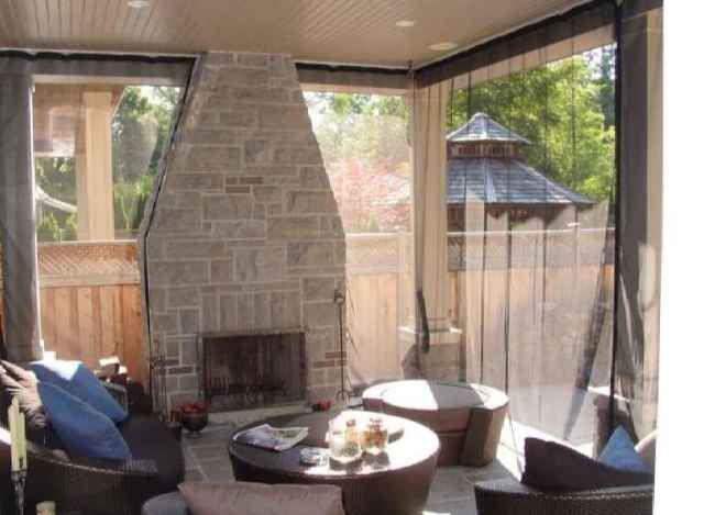 Mosquito Netting Around Porch   Cheaper Than Traditional Screening |  Outdoor DIY | Pinterest | Mosquitoes, Decks And Porch