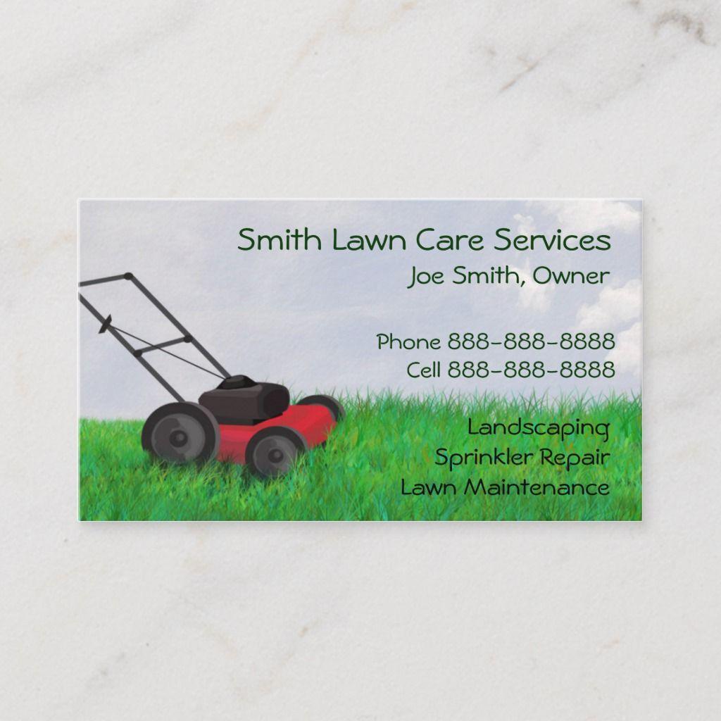 Lawn Yard Maintenance Servies Business Card | Zazzle.com