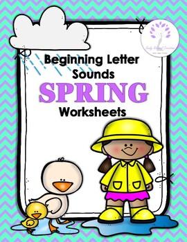 Seven (7) PDF printable SPRING themed worksheets help