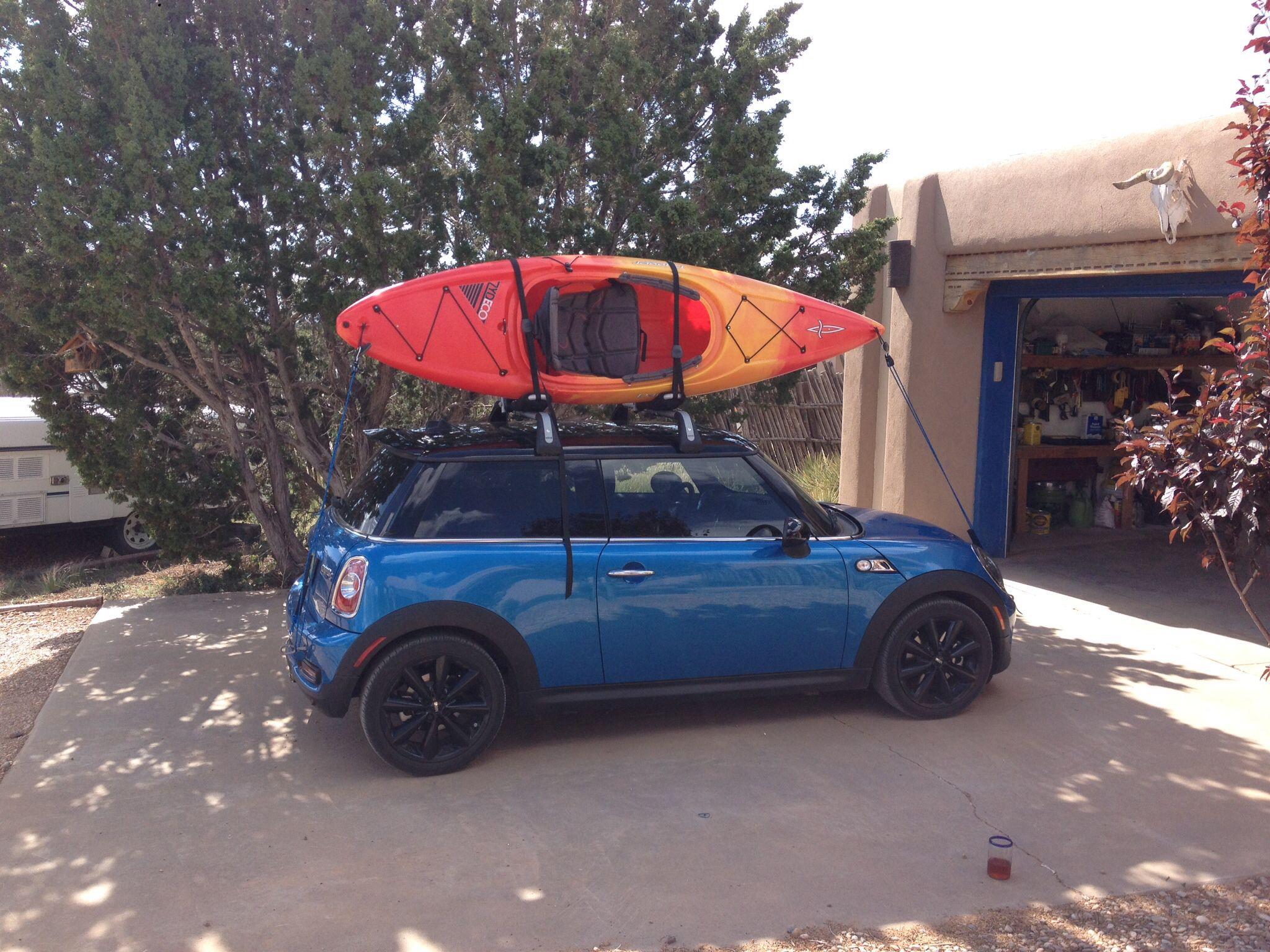 Mini Roof Rack And Kayak Kayaking Mini Cooper Roof Rack