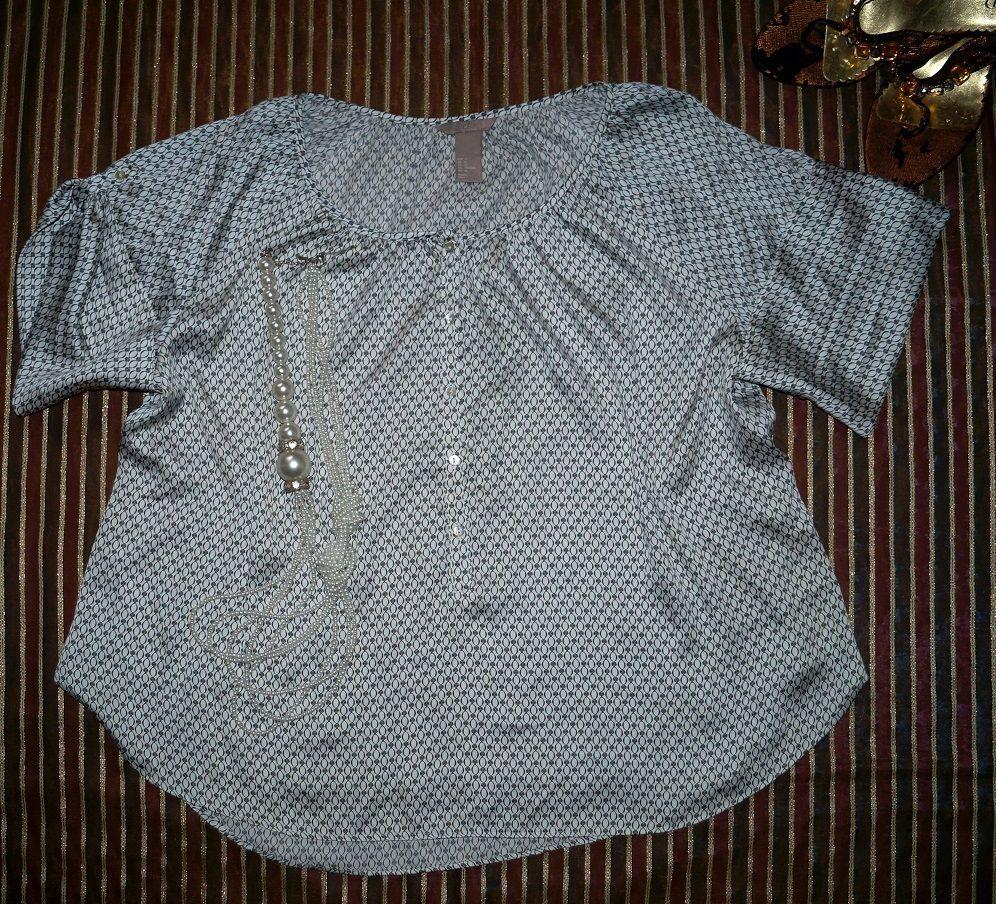 H M Elegancka Zwiewna Bluzka Satyna 48 50 5698885754 Oficjalne Archiwum Allegro Fashion Ruffle Blouse Tops