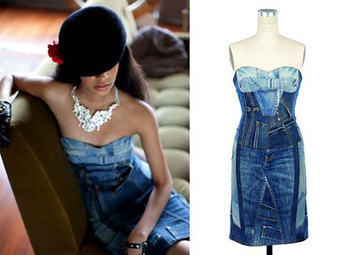 recycled denim couture auction
