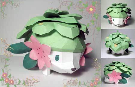 Shaymin (flowery hedgehog Pokemon) maybe I can make a flower pot of this one too like the other one