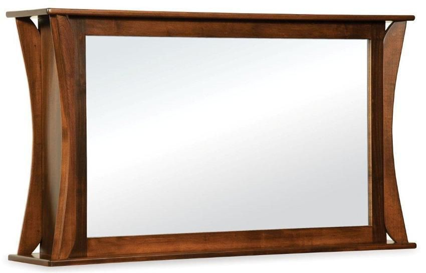 Amish Lakemont Shaker Two Way Mirror for Flat Screen TV in ...
