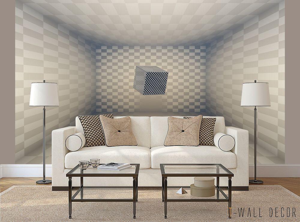 Best 3D Square Wallpaper Mural Room Graphic Art Illusion 2018 400 x 300