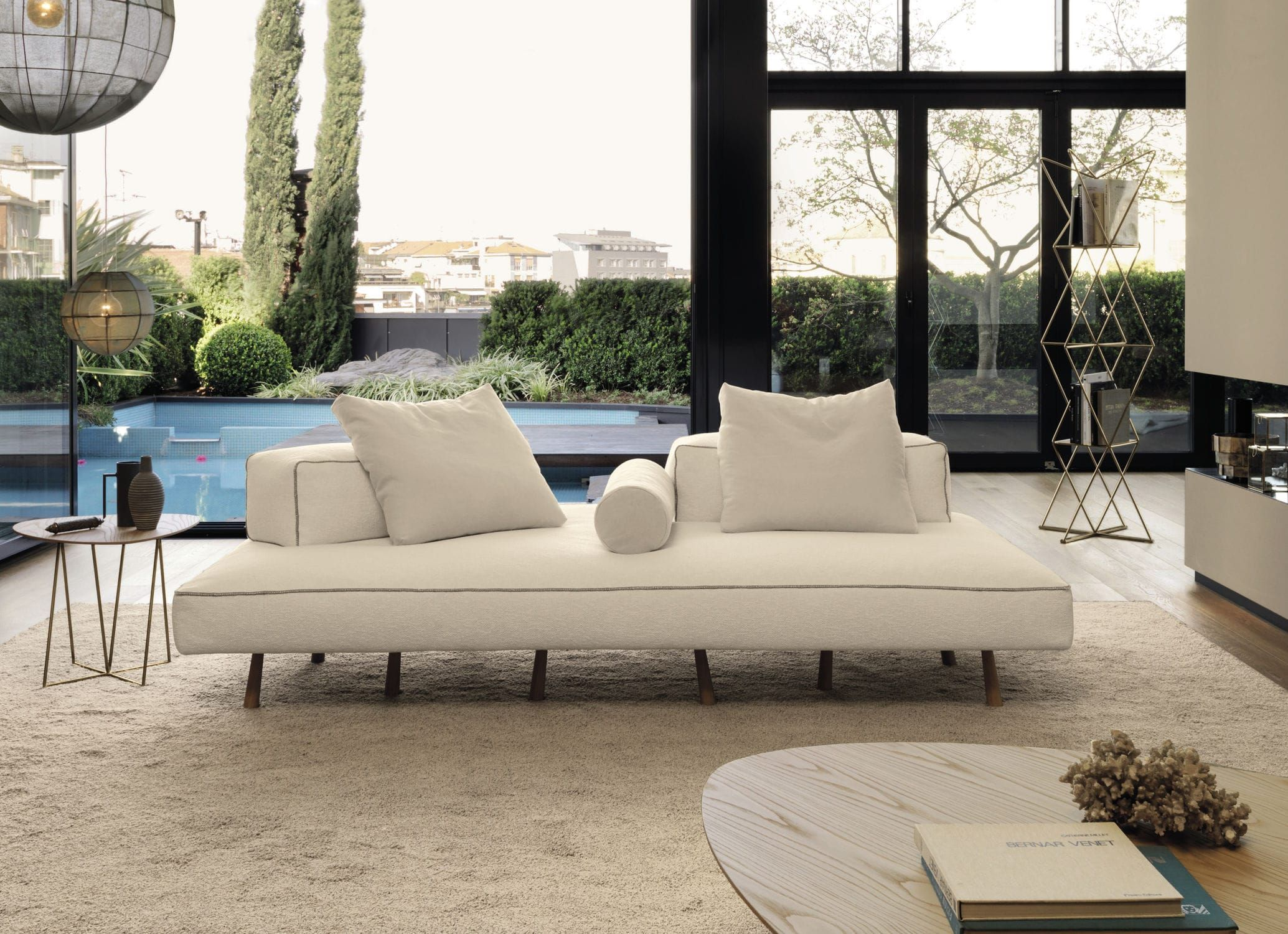 contemporary sofa / fabric / leather / wood endor désirée, Wohnzimmer dekoo