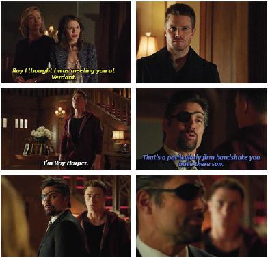Arrow - Oliver, Slade, Thea & Roy #2.15 #Season2