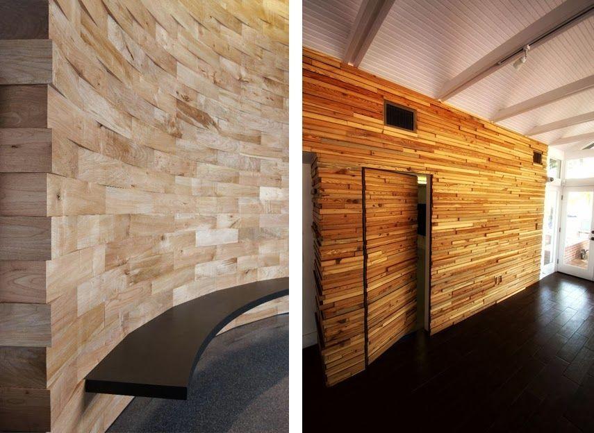 Revestimientos de madera reciclada InspiraciónEspacios en madera