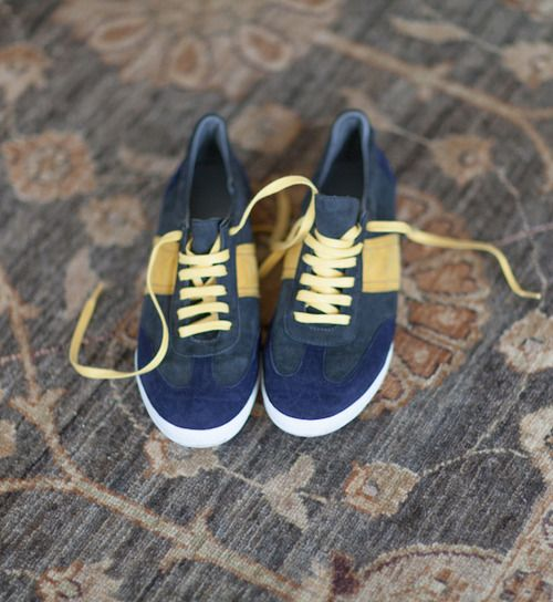 Navy & Yellow Trainers, click to sign up!