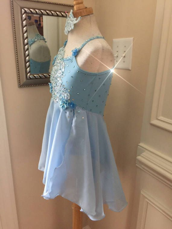 bf484395e1e1 Custom Lyrical Dance Costume for Competition Baby blue with ...
