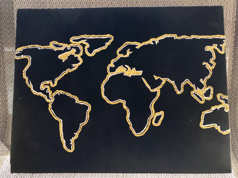 World map by wanderingpaints on etsy wanderingpaints pinterest items similar to world map on etsy gumiabroncs Images