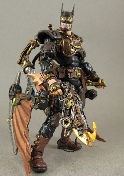 steampunk batman action figure jinsaotome action