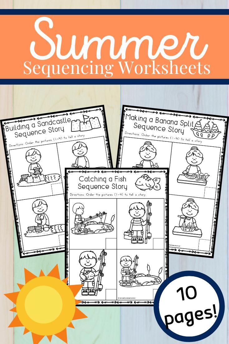 Free Sequencing Worksheets For Summer Sequencing Worksheets Kindergarten Lessons Summer Learning [ 1102 x 735 Pixel ]