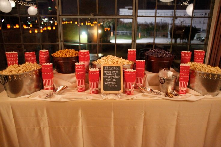 Bowman Dickens Wedding Popcorn Bar Wedding Snacks Popcorn Wedding Reception