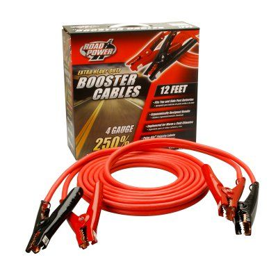 Coleman Cable 0866 4-Gauge Extra Heavy Duty Booster Cables with Polar-Glo Clamps - 086650104