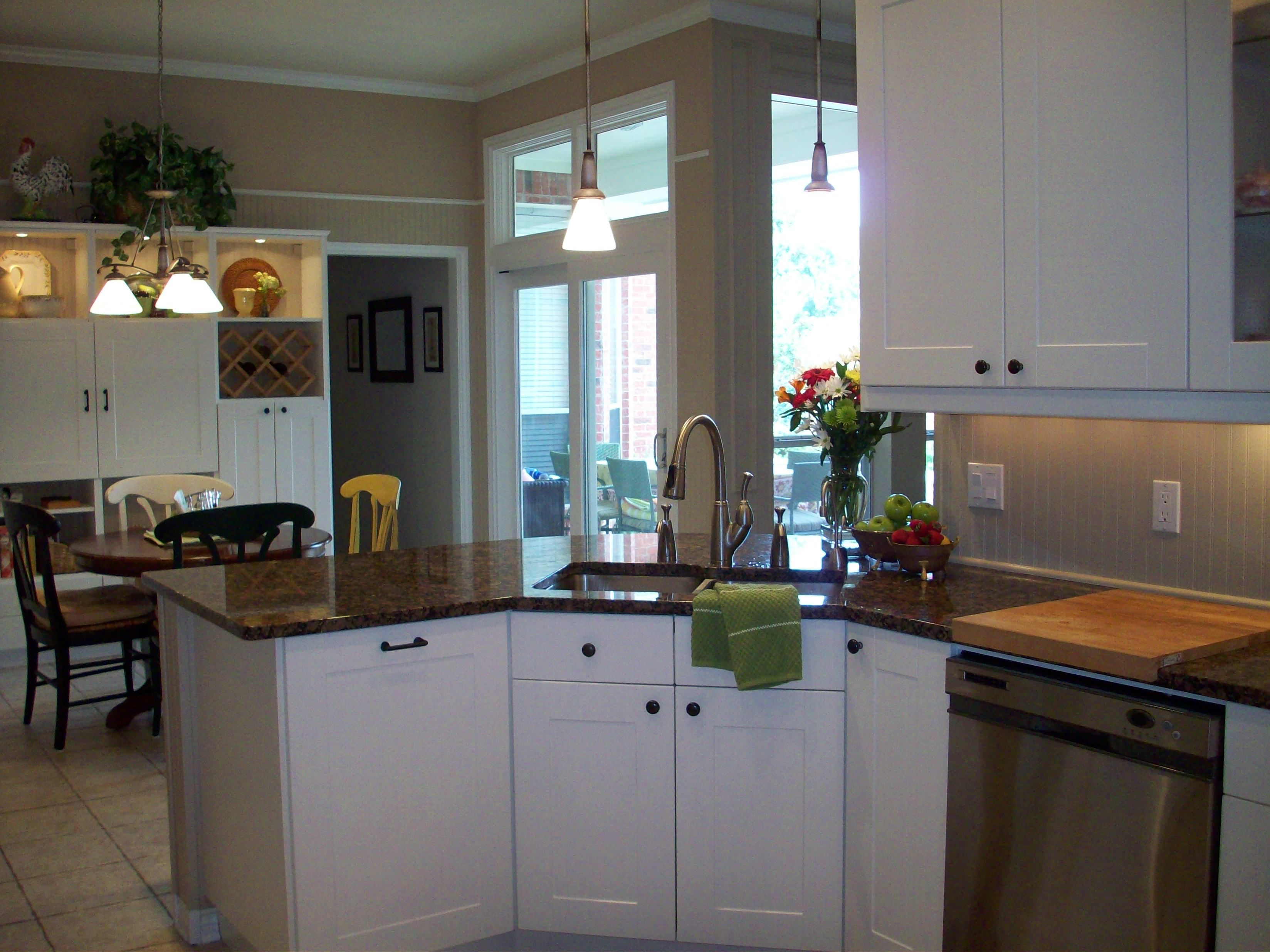Corner base kitchen cabinet  We used a standard  in sink base but install on an angle for the