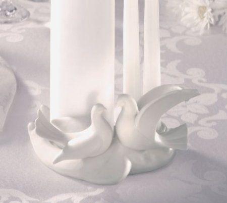 Amazon Com Lillian Rose Porcelain Dove Unity Candle Holder