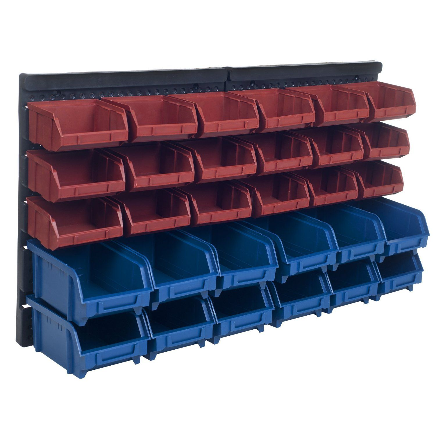 Stalwart 30 Bin Wall Mounted Parts Rack General Purpose Storage