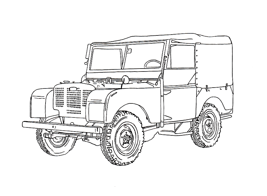 Image result for land rover drawing illustration | Country | Pinterest