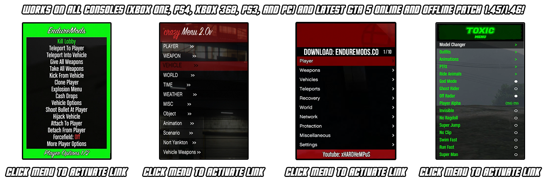 GTA 5 USB Mod Menus On Xbox One, PS4, Xbox 360, & PS3 | GTA