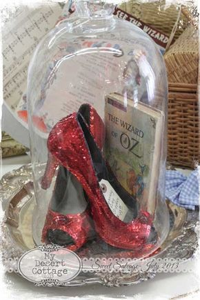 How About This For A Centerpiece Dorothy S Red Sparkling Shoes