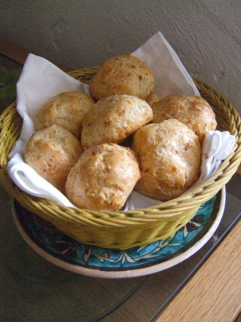o cozinheiro este algarve: Gougeres,buns or puffs? bacon and cheese from heav...