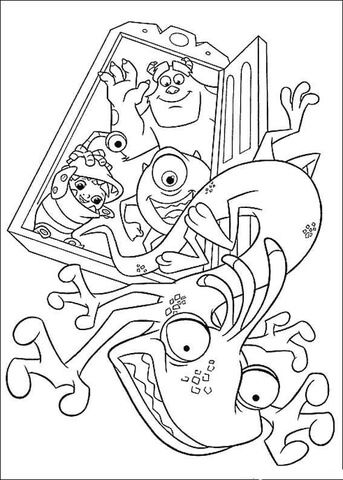 Scaring Randall Boggs coloring page from Monster inc. category ...