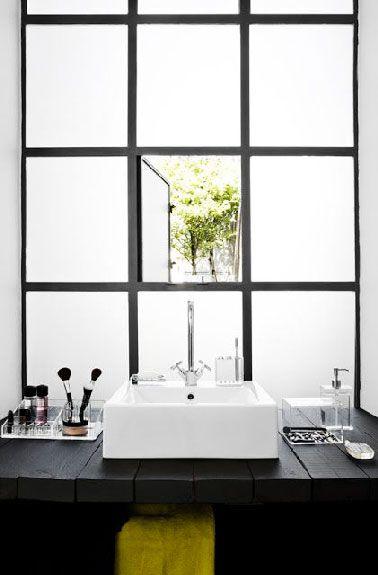 Plan vasque à faire soi-même en béton, bois, carrelage Plan vasque - Peindre Carrelage Salle De Bains