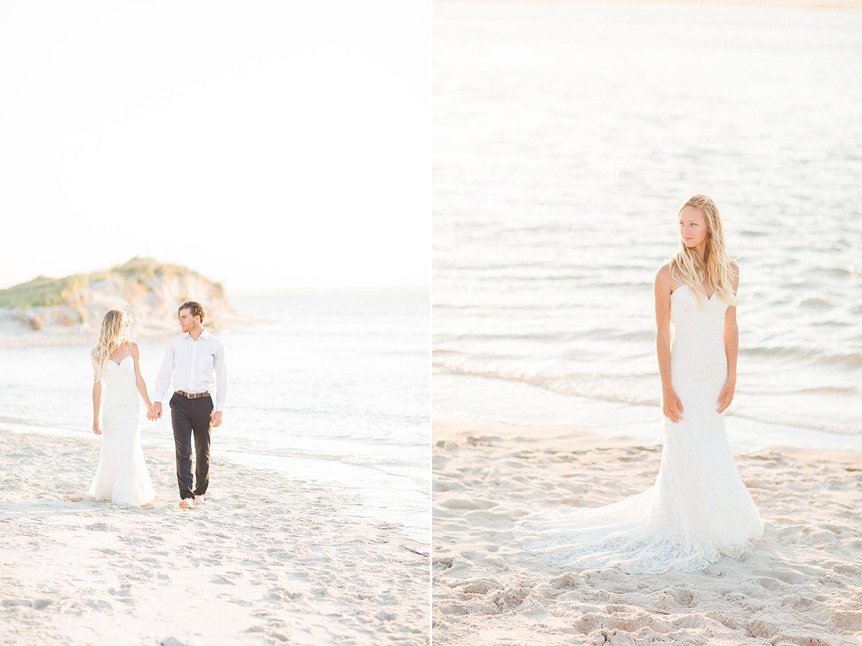 Dress for destination beach wedding guest  topsail beach wedding photographer topsail island wedding
