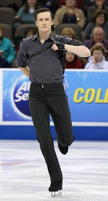 Jeremy Abbott performs his Short Program at the 2013 US National Figure Skating Championships.