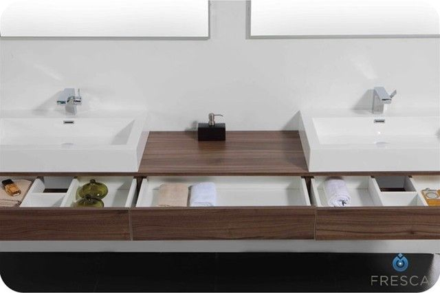 The Most Fresca Ciron Modern Double Sink Bathroom Vanity