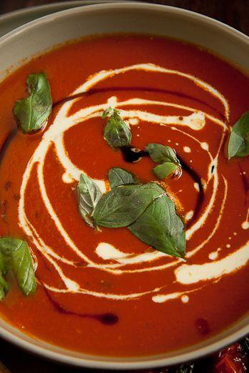 Roasted Tomato Basil Soup 4 Tins 400g 14 11 Ounces Each Whole Led Tomatoes 2 Tbsp Balsamic Vinegar Olive Oil 1 Sugar Tsp Salt Red