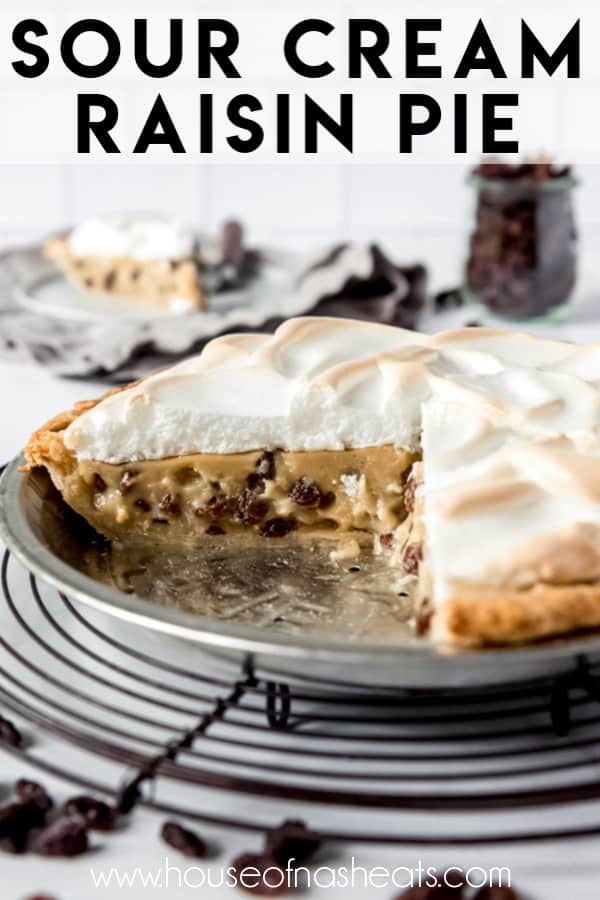 Gently Spiced Custard Filled With Plump Raisins Nestled In A Flaky Pie Crust And Tucked Under A Layer In 2020 Raisin Pie Sour Cream Raisin Pie Easter Desserts Recipes
