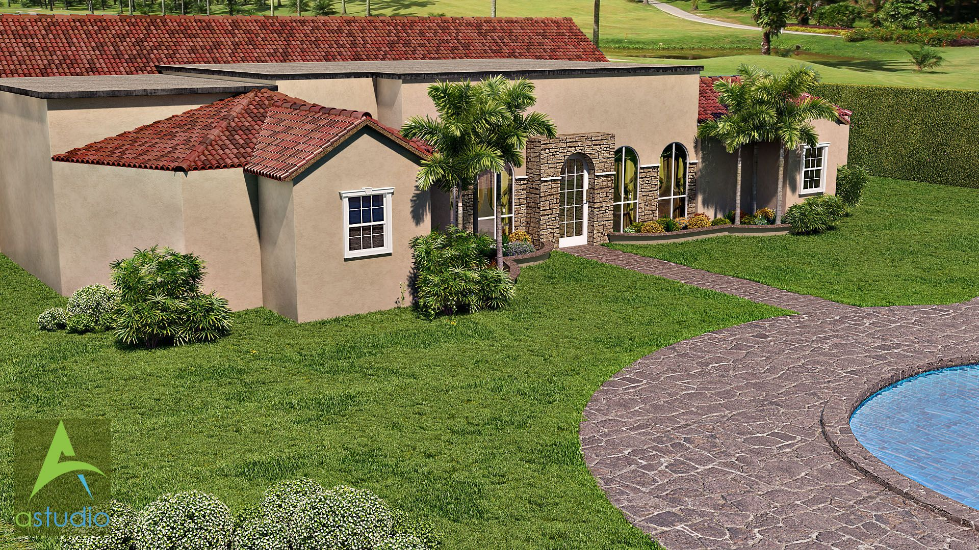 Mediterranean Residential house  Different View