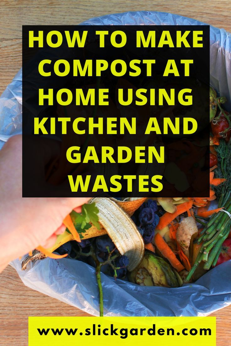How to make compost at home using kitchen and garden