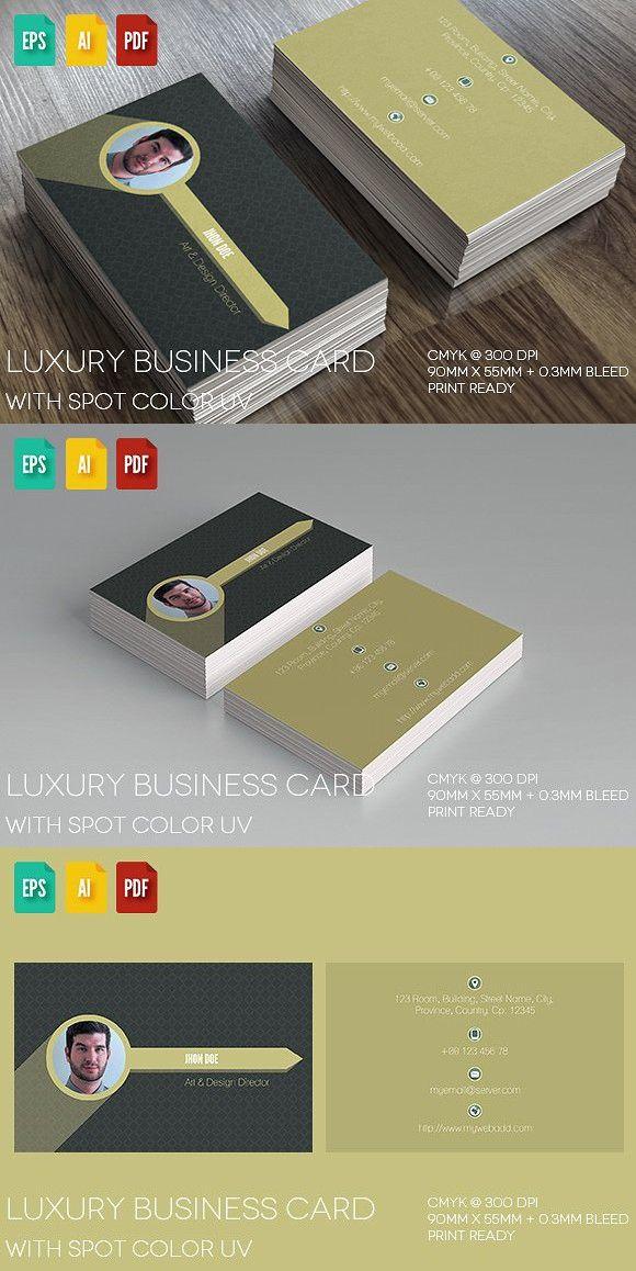 Luxury Business Card V4. Script Fonts
