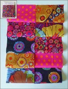Kaffe Fassett Fabric Material Squares Oranges x 10 10cm Quilting Patchwork Craft