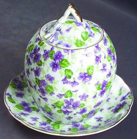 Lefton Violet Chintz Pink Dishes Chintz China Sweet Violets