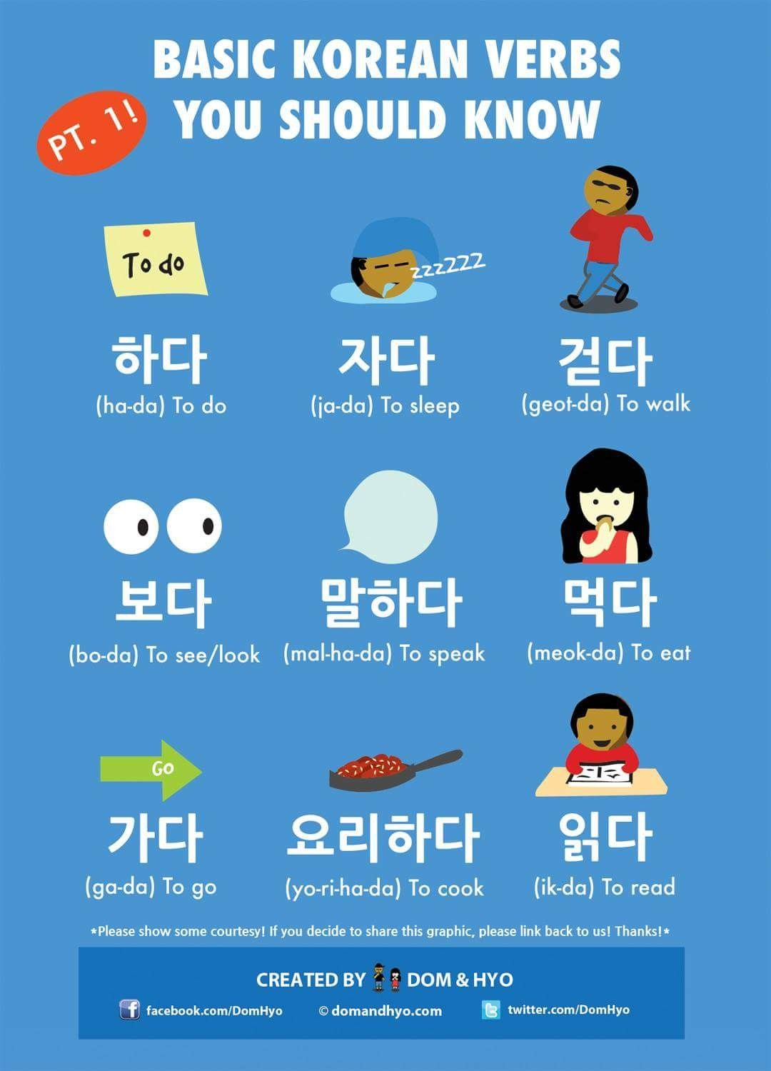 Basic Korean Verbs You Should Know Pt 1