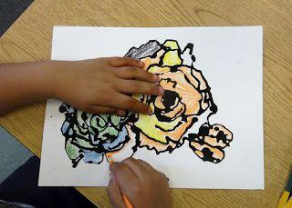 Earl Warren Arts: First/Second Grade Georgia O'Keefe Inspired Flowers