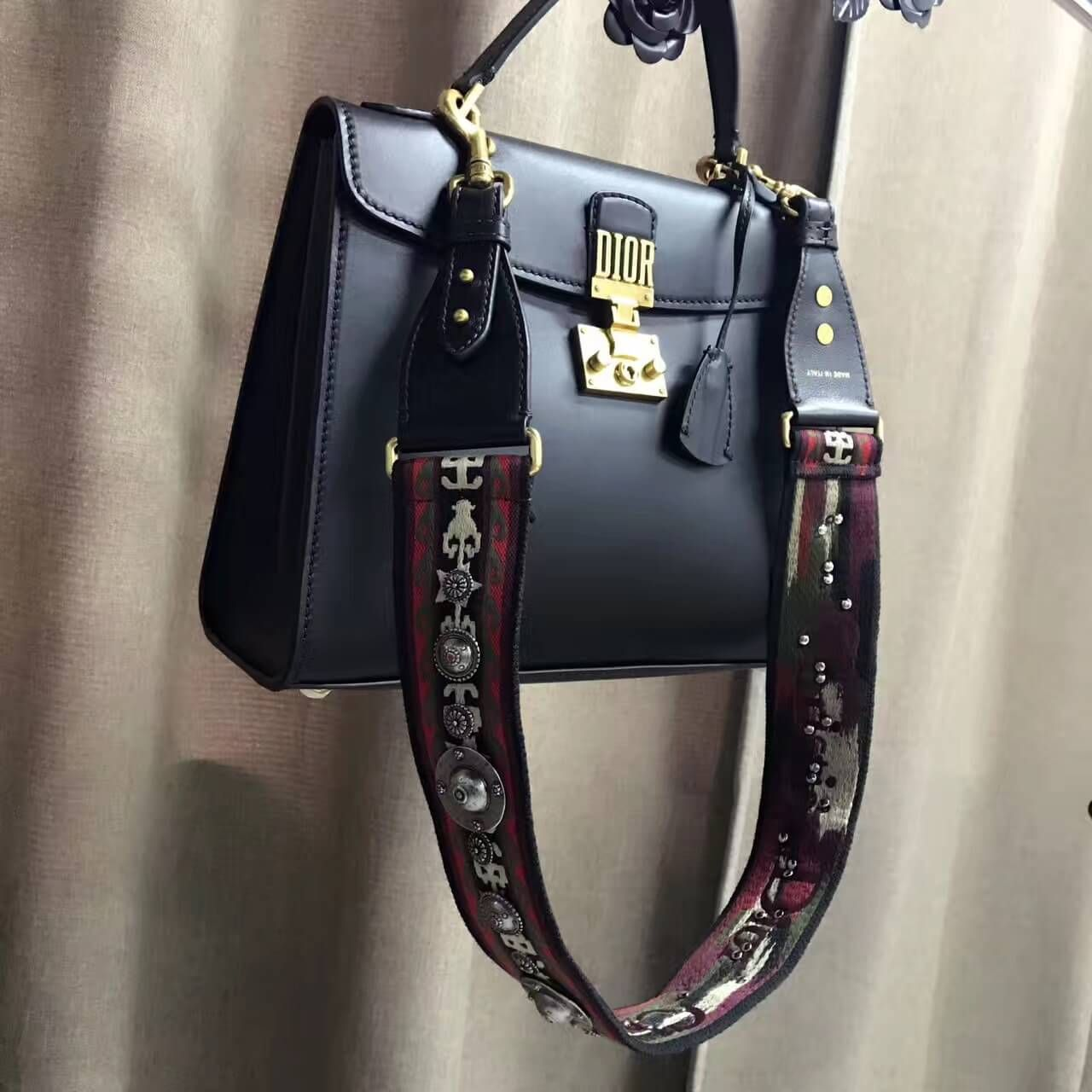 f3cfd74c5381 Dior Smooth Calfskin Dioraddict Handbag With Bohemian-inspired Strap 2017