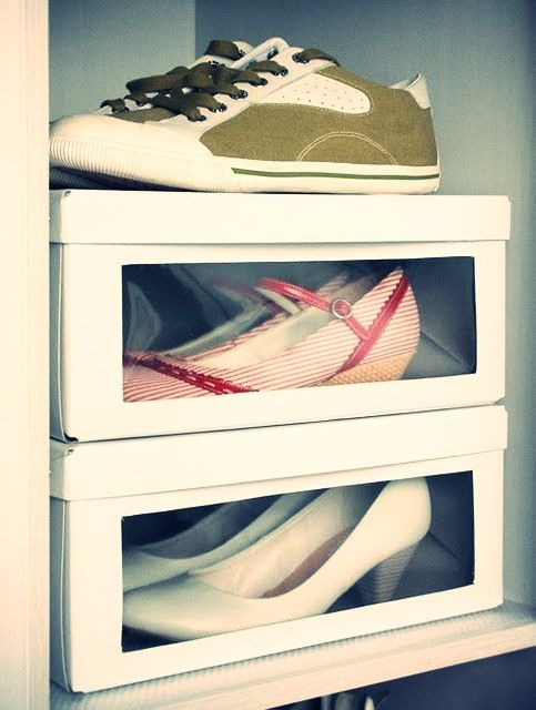 shoes organize shoebox with window diy ikea hacker for the home rangement chaussures