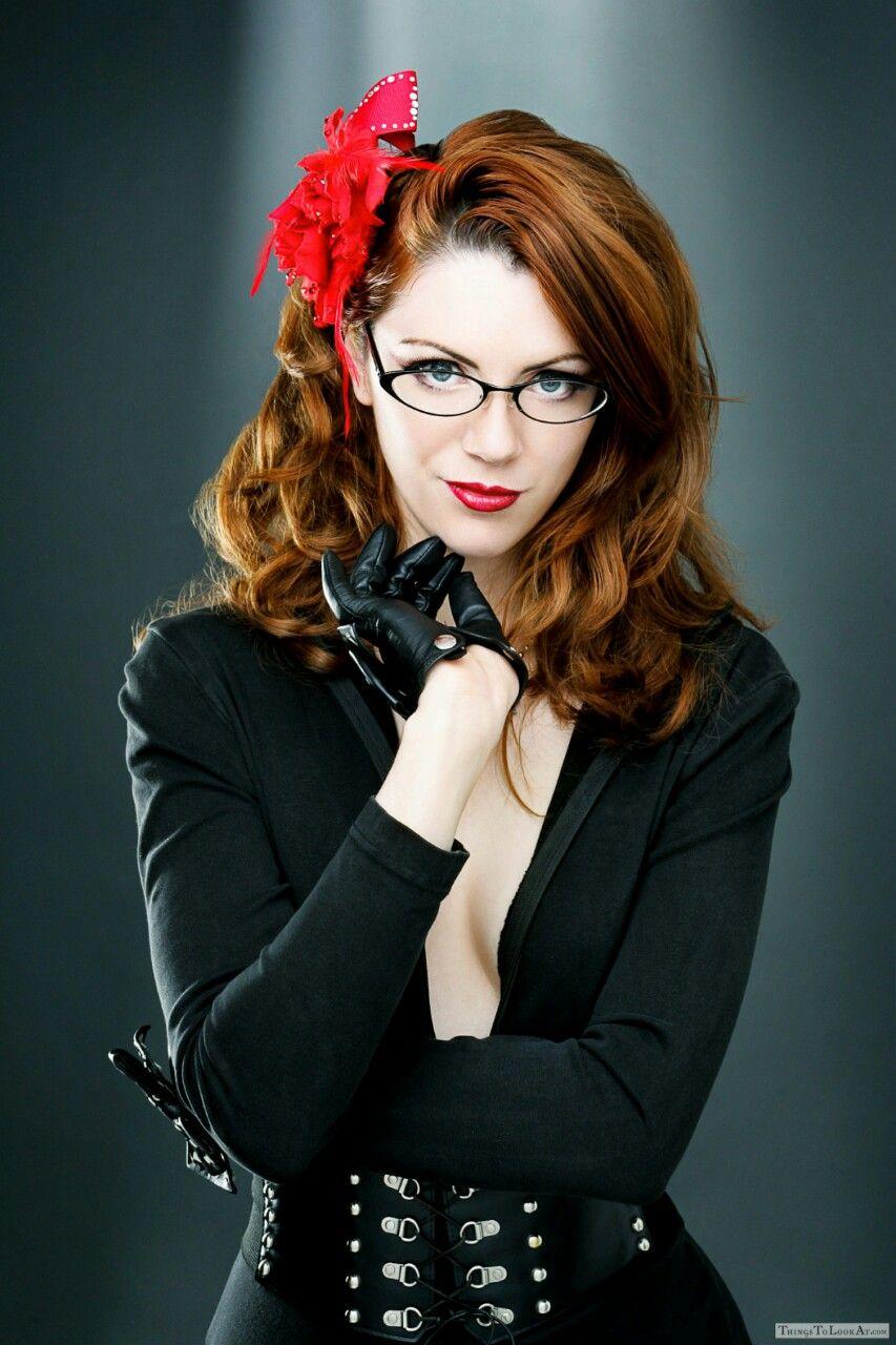 Nude Beautiful Redhead Girl With Long Hair. Perfect Woman